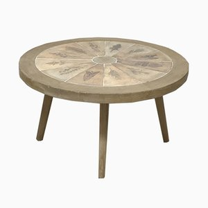 Tavolino da caffè Mid-Century di Jean Touret per Atelier Marolles