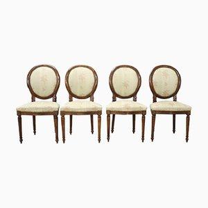 Chaises Vintage en Hêtre, 1950s, Set de 4