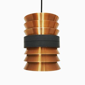 Lámpara colgante de cobre de Doria Leuchten, años 60