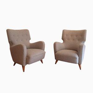 Französische Calysse Sessel von Henri Caillon für Erton, 1956, 2er Set