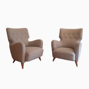 French Calysse Lounge Chairs by Henri Caillon for Erton, 1956, Set of 2