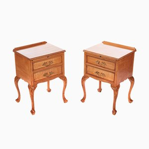 Vintage Maple Bedside Cabinets, 1920s, Set of 2
