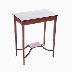 Table Console Antique Edwardien en Acajou