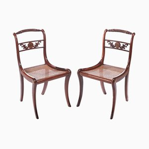 Antique Regency Rosewood Side Chairs, Set of 2