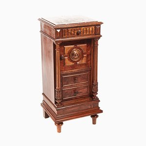 French Walnut Bedside Cabinet, 1860s