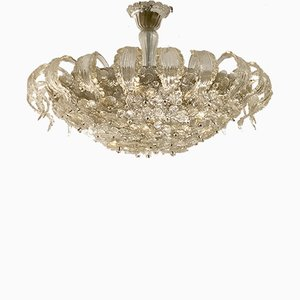 Mid-Century Murano Glass Flowers Chandelier by Archimede Seguso