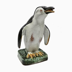 Penguin Sculpture from Karlsruher Majolika, 1950s