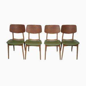 Mid-Century Stühle aus Teak & Buche von Stella, 1950er, 4er Set