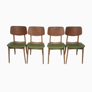 Mid-Century Teak & Beech Chairs from Stella, 1950s, Set of 4