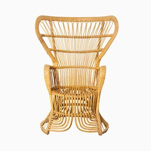 Rattan Peacock Chair from Rohé Noordwolde, 1950s