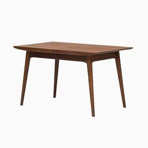 Ausziehbarer Esstisch aus Teak von Louis van Teeffelen für Wébé, 1950er