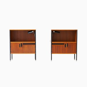 Vintage Italian Nightstands & Sconces, 1950s, Set of 2