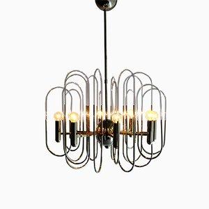 Lámpara de araña de Gaetano Sciolari, años 70