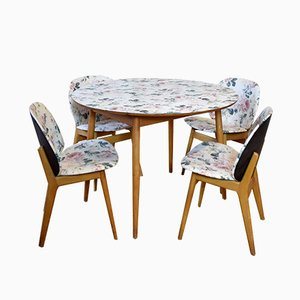 Vintage Floral Dining Set from Kandya, 1950s