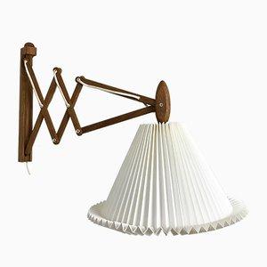 Lámpara tijera Sax danesa de Erik Hansen para Le Klint, años 60