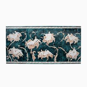 Piastrelle Le Donne sui Fiori in ceramica di Gio Ponti, anni '70, set di 8