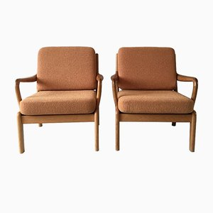 Mid-Century Danish Teak Easy Chairs from L. Olsen & Son, Set of 2