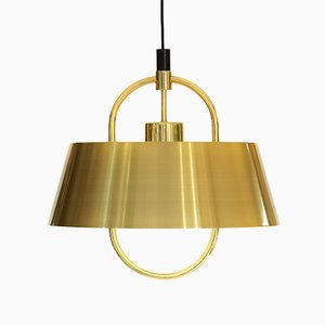 Hercules Brass Pendant Light by Jo Hammerborg for Fog & Mørup, 1970s