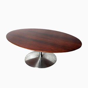 Tavolino da caffè vintage in palissandro di Pierre Paulin per Artifort