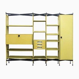 Libreria e storage Spazio con cassetti di BBPR per Olivetti Synthesis, anni '60
