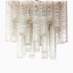 Lampada da soffitto in vetro di Murano di Doria, anni '60