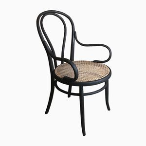 Antique Black Bentwood Armchair by Michael Thonet