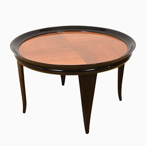Art Deco Italian Ebonized Wood Coffee Table by Gio Ponti, 1940s