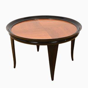 Mesa de centro italiana Art Déco de madera ebonizada de Gio Ponti, años 40