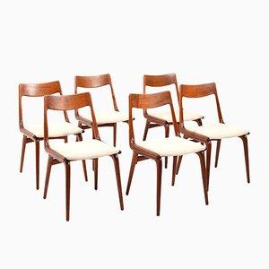 Boomerang Stühle aus Teak von Alfred Christensen für Slagelse Møbelværk, 1960er, 6er Set