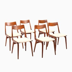 Boomerang Teak Chairs by Alfred Christensen for Slagelse Møbelværk, 1960s, Set of 6