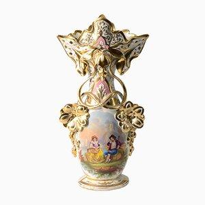 Handbemalte antike französische Vase, 1850er