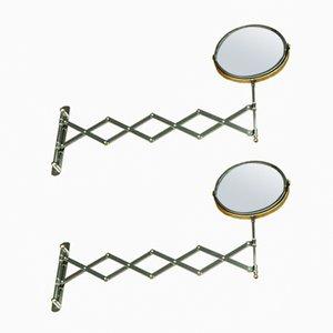 Vintage Danish Mirrors, 1970s, Set of 2
