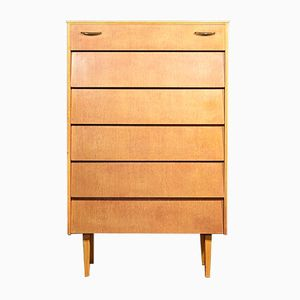 Mid-Century Oak Tallboy from Avalon