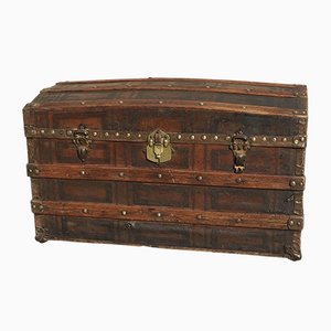 Antique Travel Trunk from Vieira & Cia