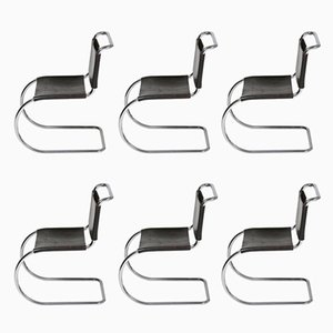 Chaises Bauhaus Vintage par Ludwig Mies Van Der Rohe, Set de 6