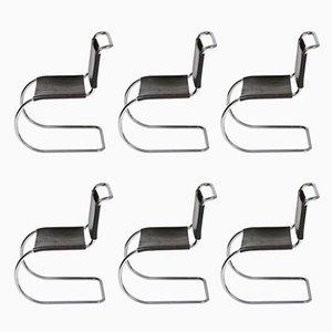 Vintage Bahuaus Chairs by Ludwig Mies Van Der Rohe, Set of 6