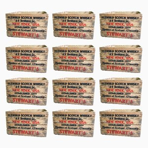 Vintage Wooden Crates, 1980s, Set of 12