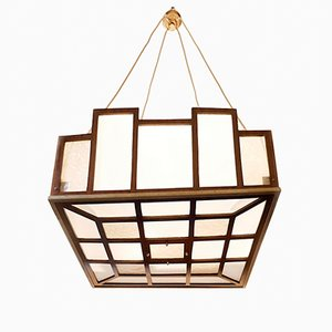 Arts & Crafts Geometrical Pendant Lamp, 1900s