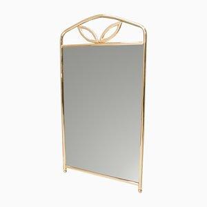 Specchio da parete Hollywood Regency dorato, anni '60