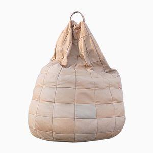 Puf Bean Bag grande de cuero de de Sede, años 70