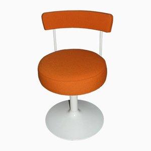 Silla giratoria vintage en naranja, años 70