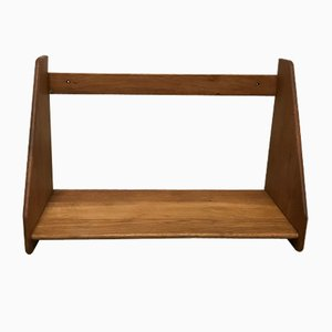 Vintage Wall-Mounted Oak Shelf by Hans J. Wegner for Ry Møbler, 1960s
