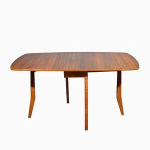 Ausklappbarer Mid-Century Tisch aus Nussholz