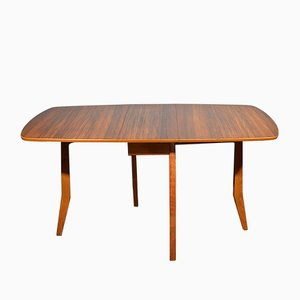 Mid-Century Drop-Leaf Walnut Table