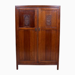 Vintage Carved Oak Wardrobe