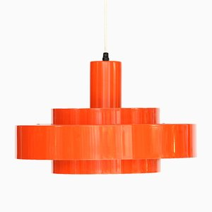 Suspension Equator Orange par Johannes Hammerborg pour Fog & Mørup, 1960s