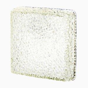 Lampada da soffitto o parete in vetro smerigliato di Holophane, anni '70