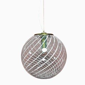 Vintage Swirl Pendant Lamp, 1960s