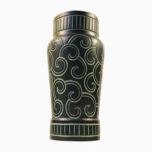 Art Deco Danish Ceramic Vase from Knabstrup, 1920s