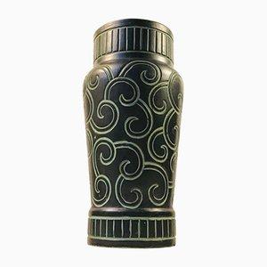 Dänische Art Deco Keramikvase von Knabstrup, 1920er